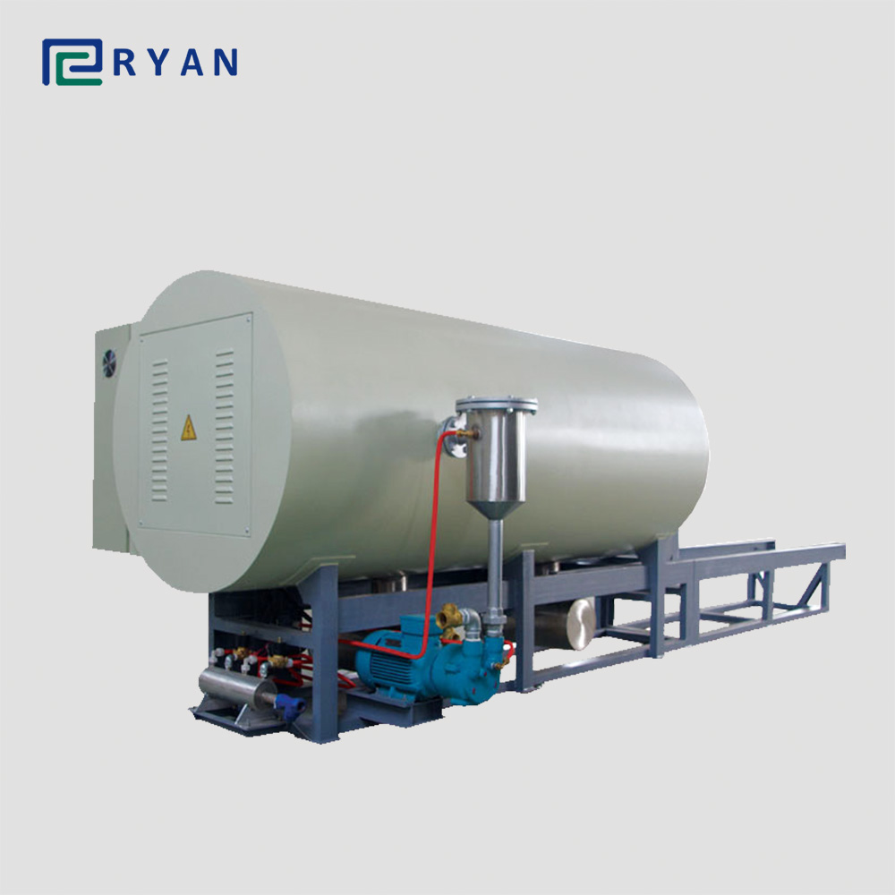 hight resolution of calcining furnace for clean plastic material from spinneret and filter