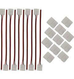 get quotations kinyooo 8mm 3528 2835 led strip light connectors kits 10 pcs 2 pin 8mm [ 1000 x 1000 Pixel ]