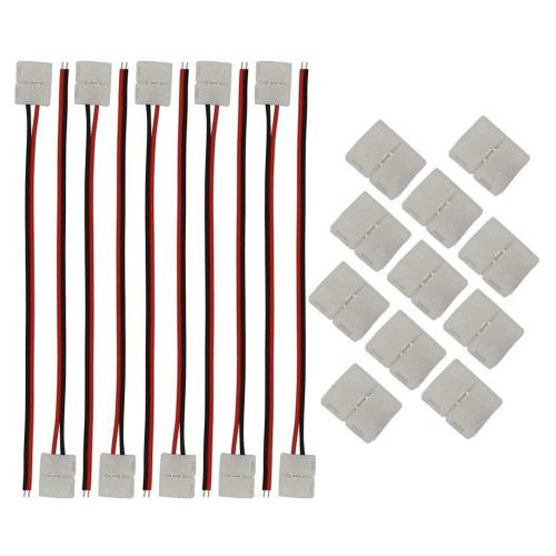 small resolution of get quotations kinyooo 8mm 3528 2835 led strip light connectors kits 10 pcs 2 pin 8mm