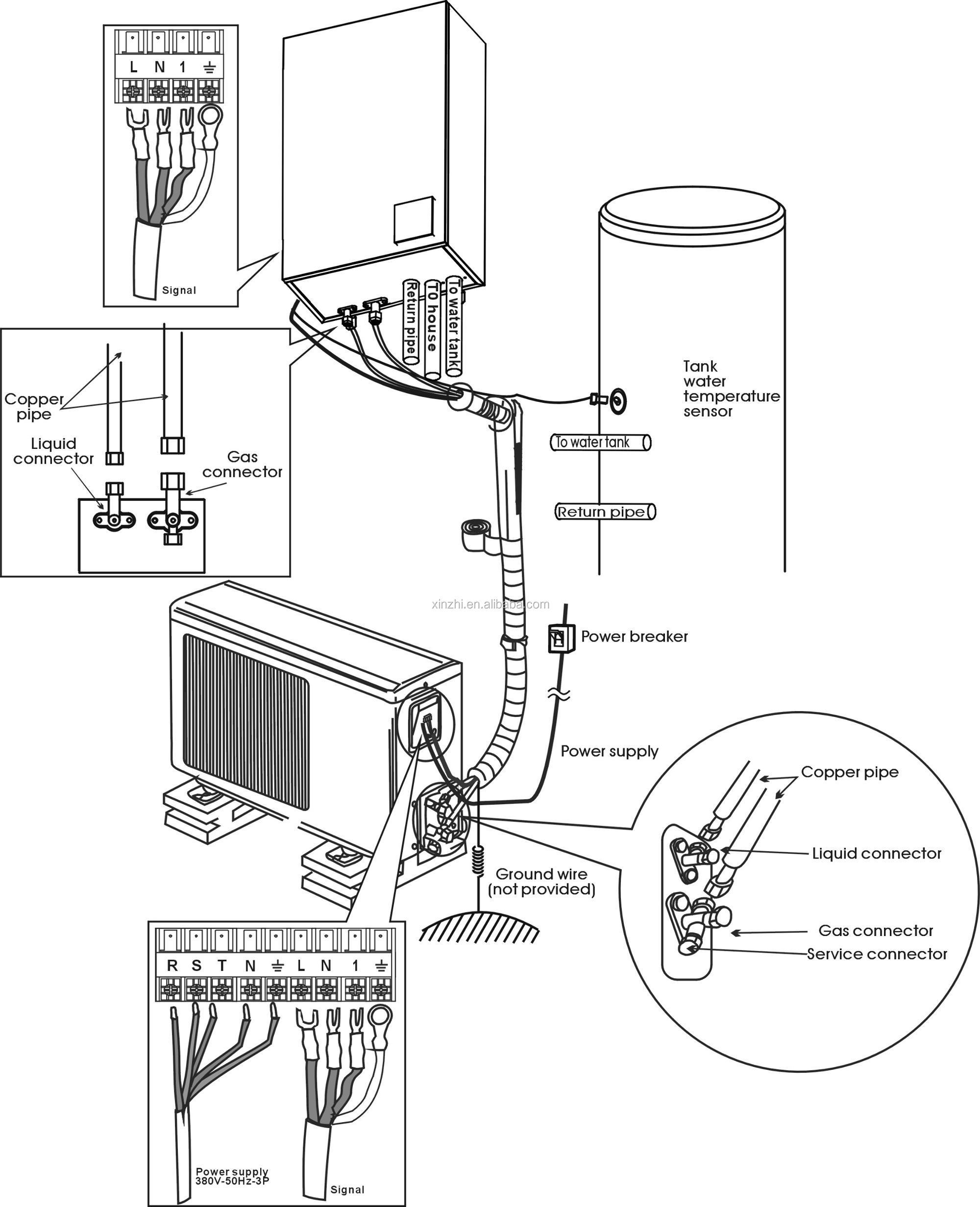 7kw Air To Water Heat Pump Inverter Wall-mounted Split