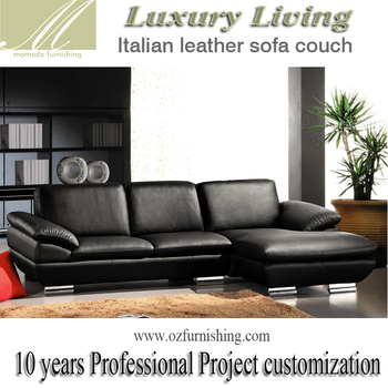 l shaped black leather sofa set airdrieonians albion rovers sofascore dz269 modern luxury italy genuine full italian style living room shape sectional