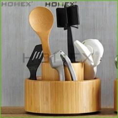 Kitchen Tool Holder Chair Cushions Non Slip Bamboo Utensil Organizer Box Homex Buy Rotatable Ringlike Product On Alibaba Com