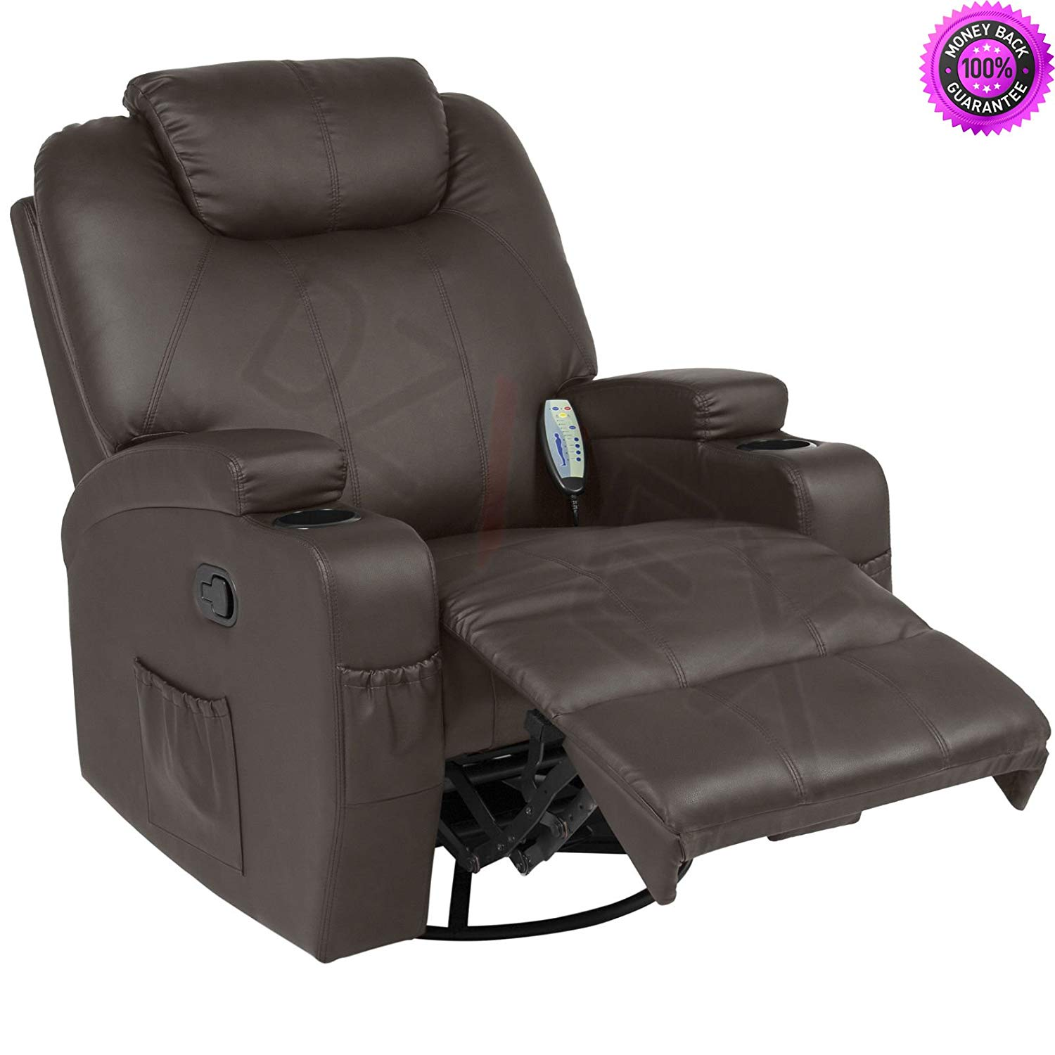 back massage chairs for sale chair gym reviews 2018 cheap full body find get quotations dzvex executive swivel recliner w 5 heat modes 2 cup holders 92lbs