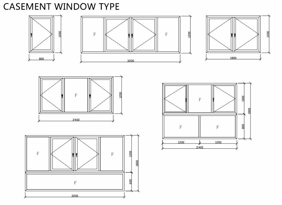 Europe Style Aluminum Fixed Window /low Uv Aluminum