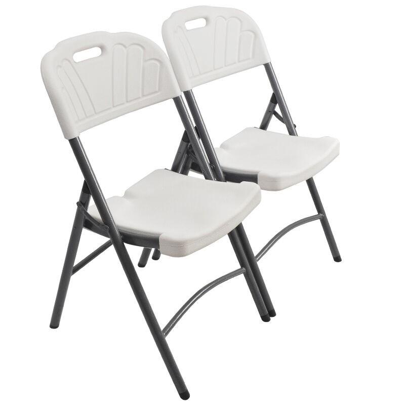 Comercio al por mayor de resina blanca silla plegable de