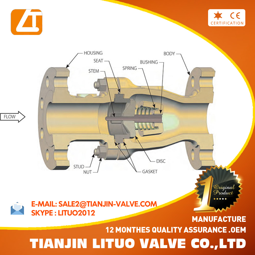 medium resolution of cast iron axial flow check valve