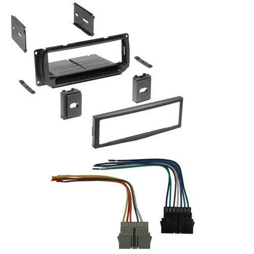 small resolution of get quotations car stereo radio kit dash installation mounting trim bezel w wiring harness for select chrysler