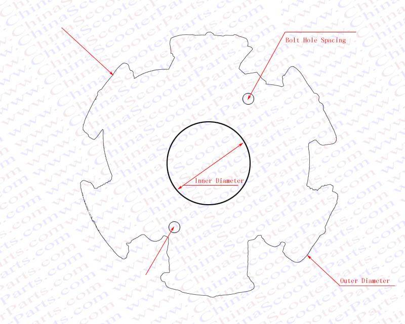Magneto Stator 4 Pole 6 Wire 125cc 150cc Xmotos Kaya
