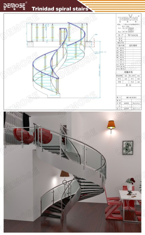 small resolution of indoor modern wood stairs design spiral stairs used wrought iron stair railing dms 1011