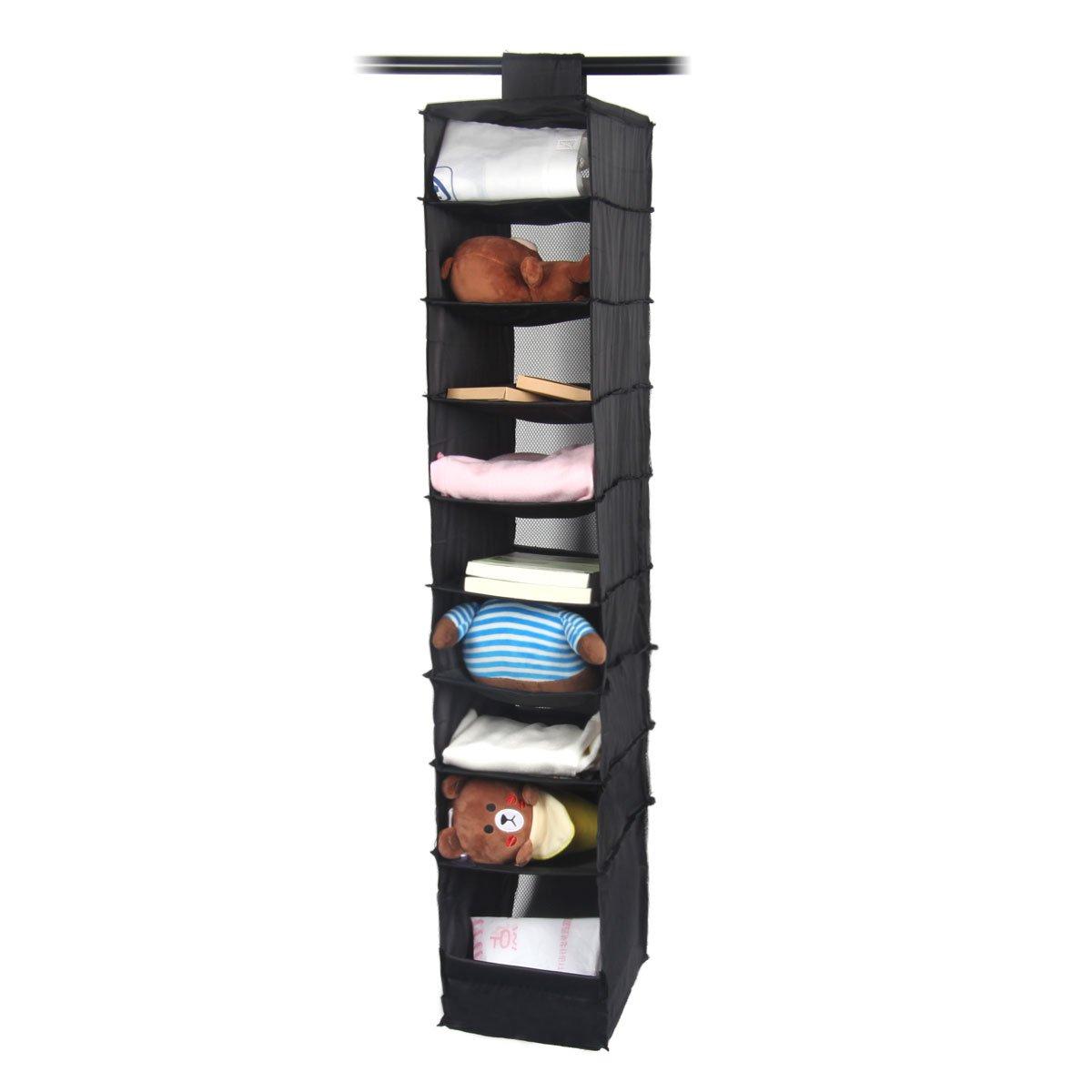 Aobeau 3 Shelf Hanging Closet Organizer With 3 Drawers