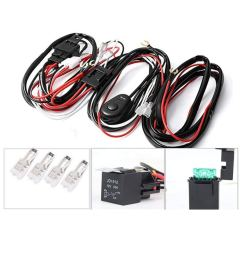 get quotations alician led light bar wiring harness kit 12v 40a 2 lights 1 control switch relay cable [ 1001 x 1001 Pixel ]