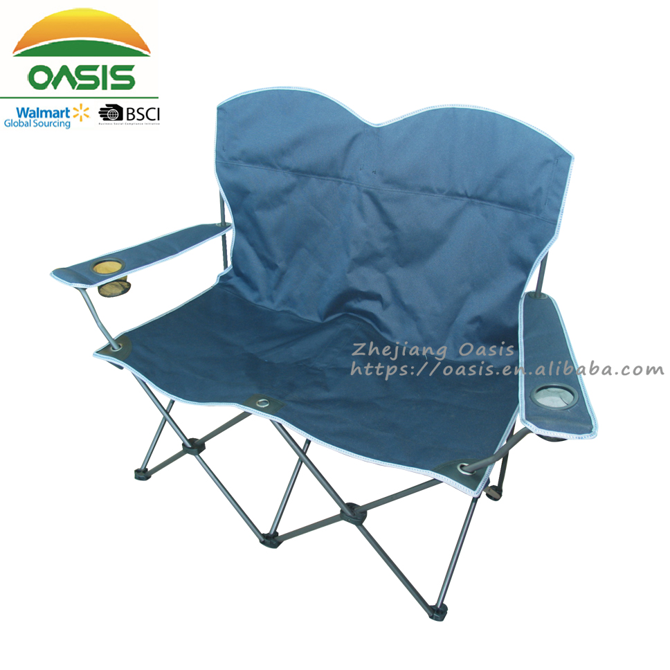 double seat folding chair sturdy dining chairs lightweight 2 person camping buy product on alibaba com