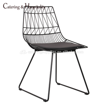 black wire chair modern arm chairs garden furniture replica steel painting outdoor metal