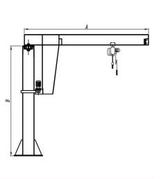 kiwi brand portable 1 5 ton jib crane 1 ton jib crane used in various industry [ 1000 x 804 Pixel ]