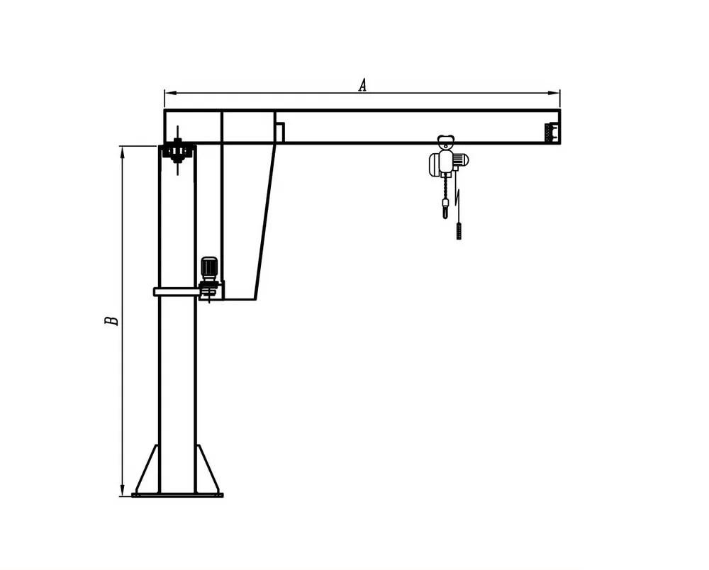 medium resolution of kiwi brand portable 1 5 ton jib crane 1 ton jib crane used in various industry