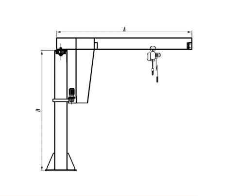 small resolution of kiwi brand portable 1 5 ton jib crane 1 ton jib crane used in various industry