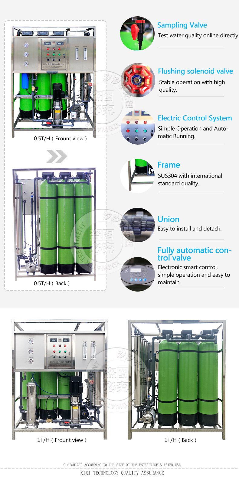 hight resolution of small capacity commercial ro well water treatment system reverse osmosis plant