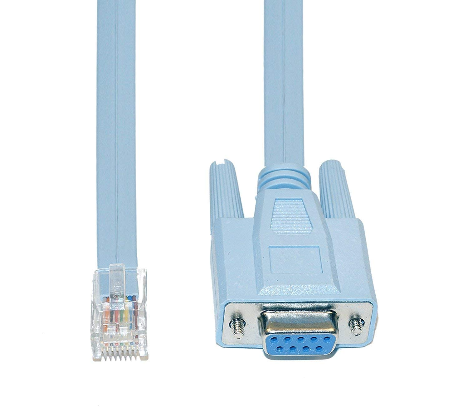 hight resolution of get quotations 9 pin db9 serial rs232 port to rj45 cat5 ethernet lan rollover console cable switch
