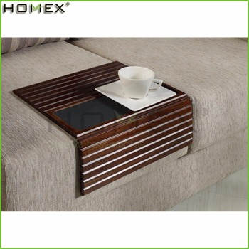 sofa arm u shaped uk john lewis bamboo and wood tray lap desk rest table in walnut homex fsc