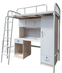 Dorm Single Bunk Bed With Desk And Wardrobe - Buy Dubai ...