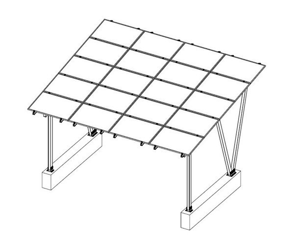 Cp-13 Solar Panel Carport Support Mounting Structure