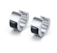 Mens Jewelry Stainless Steel Hoop Diamond Earrings For Men ...