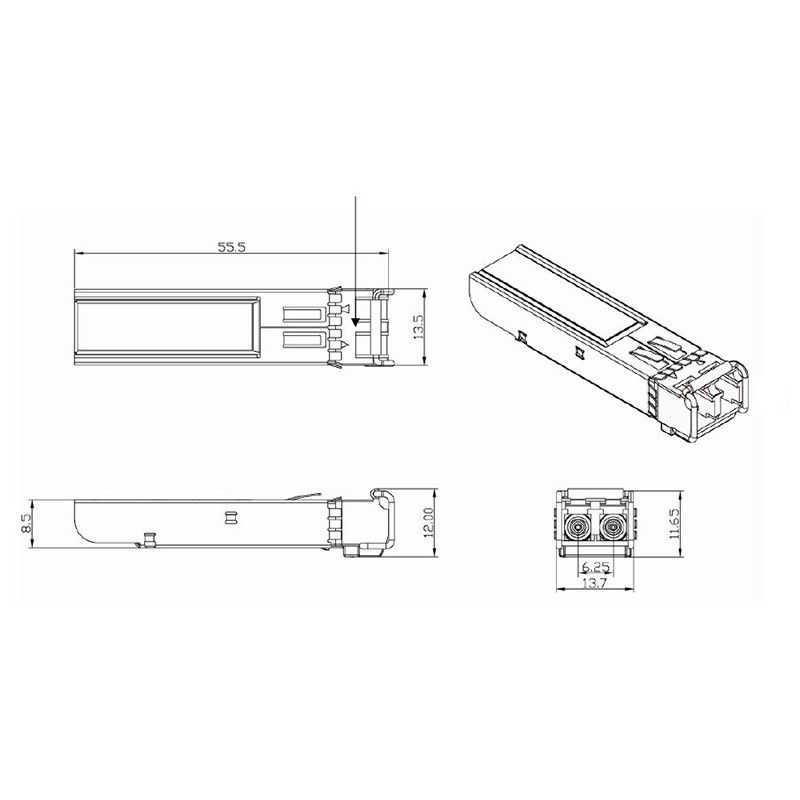 Compatible For Netgear Agm731f Gigabit Sfp Transceiver 1
