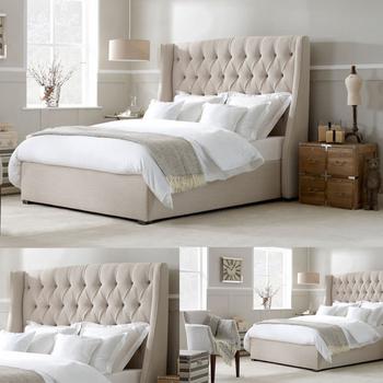 gris blanc tete de lit king size en gros cadres de lit sommier hotel sommier