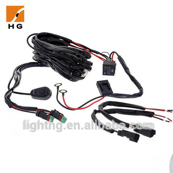 3 Meters Wire Harness With Switch And Relay Dual Channel