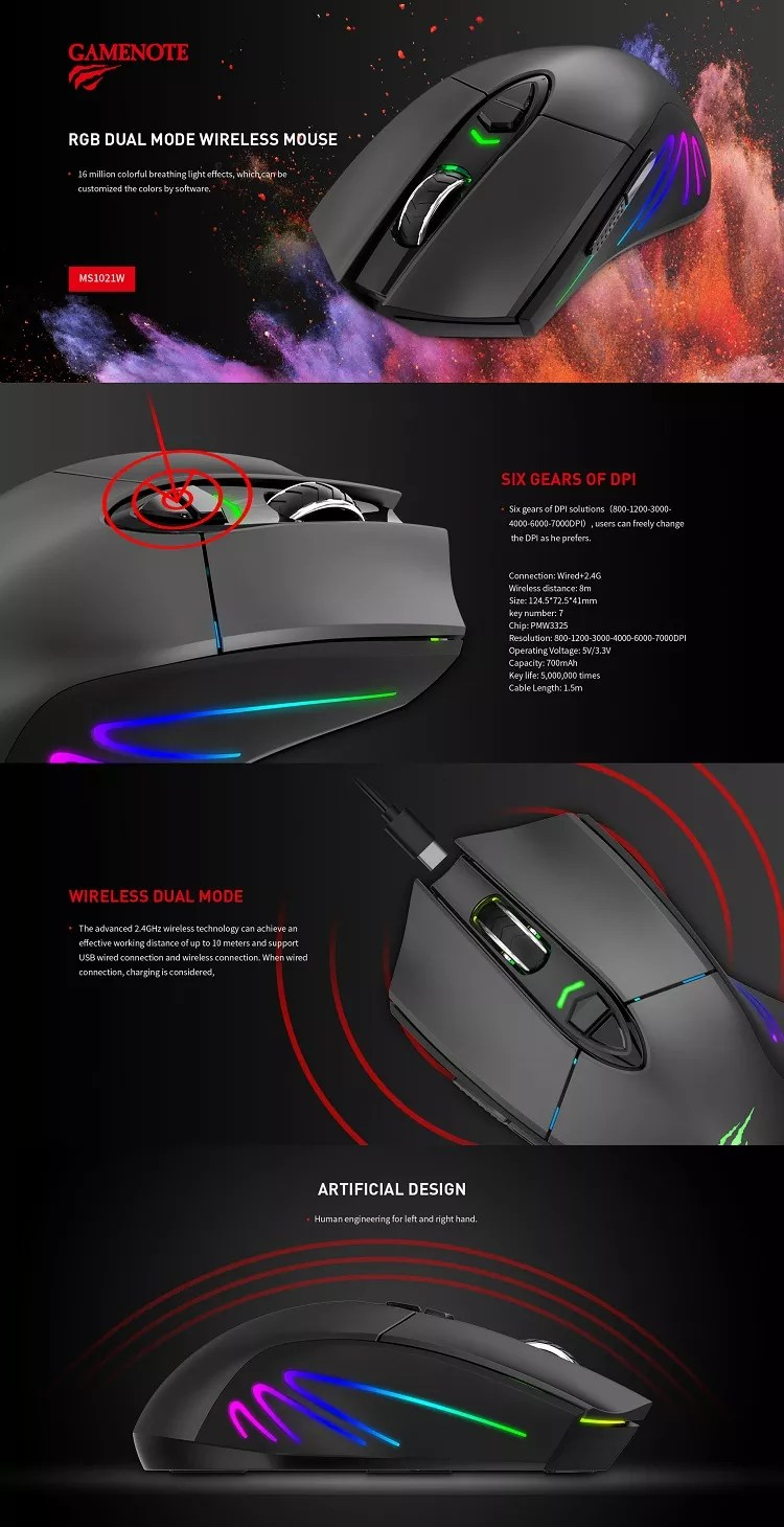 Havit Mouse Software : havit, mouse, software, Havit, Backlit, Wired, +2.4g, Gaming, Mouse, Resolutions, Software, Ms1021w, Mouse,Wired, Programmable, Mouse,Havit, Product