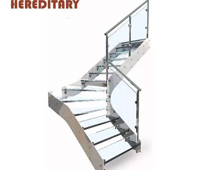 Industrial Laminate Glass Stair Treads Kit Stainless Steel Metal | Stainless Steel For Stairs | Contemporary | Modern | Outdoor | Home | Balustrade