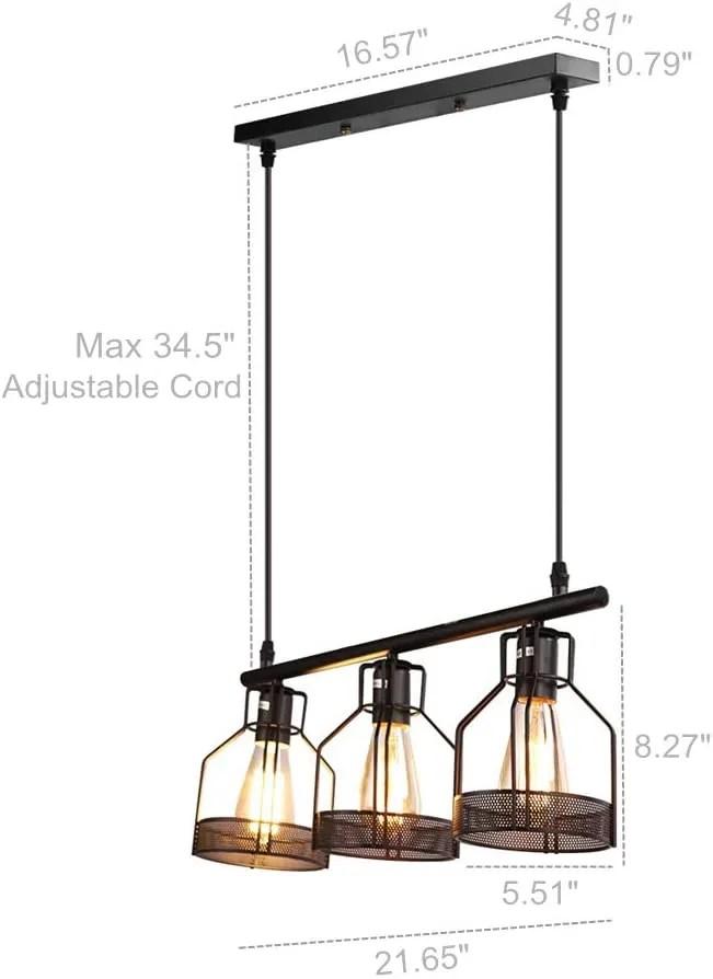 black pendant lighting 3 light kitchen island light fixtures rustic cage industrial chandelier for bar dinning room buy pendant lamp modern retro