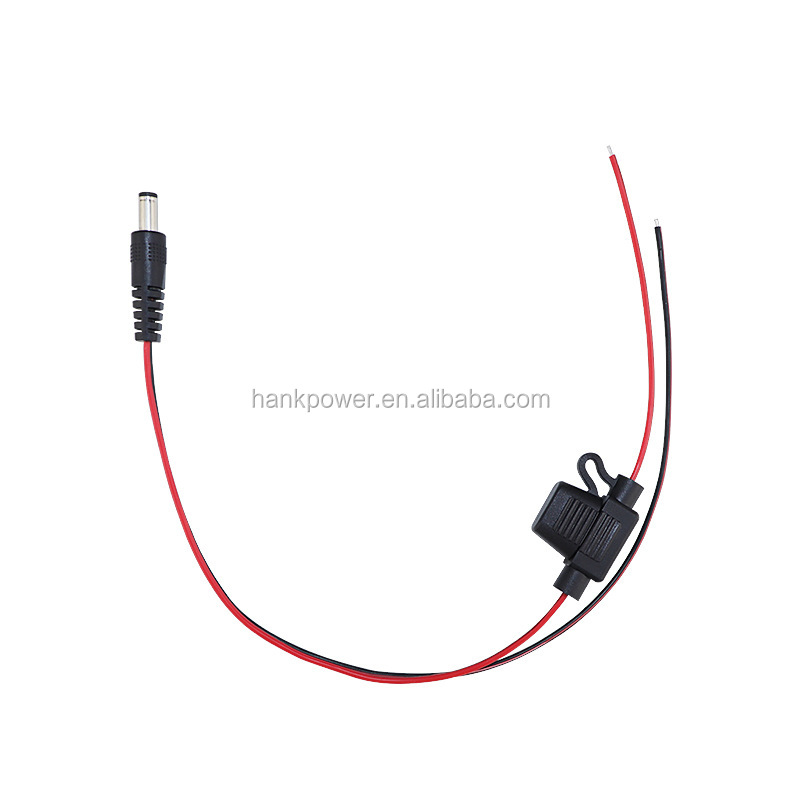 Wholesale Dc5521 Male Female To Open End Cable With Fuse