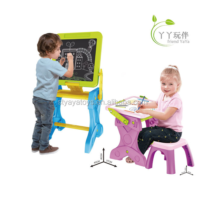 2 in 1 kids learning table plastic