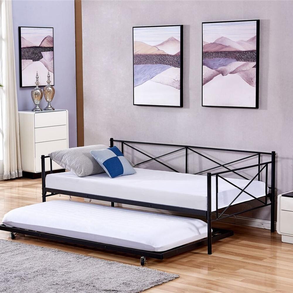 dualink lit double en metal lit balancoire a enrouler couleur noir meuble de chambre a coucher buy lit gigogne double canape lit lits gigognes lits gigognes simples product on alibaba com
