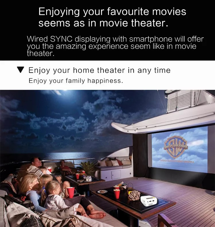 YG200 Portable LED Pocket Mini Projector Movie Game Home Theater Video Projector