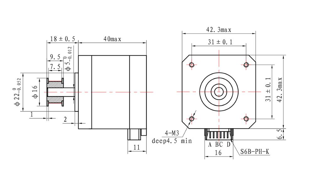 High Quality Nema 17 1.8 Degree 2 Phase Cnc Kit Stepper