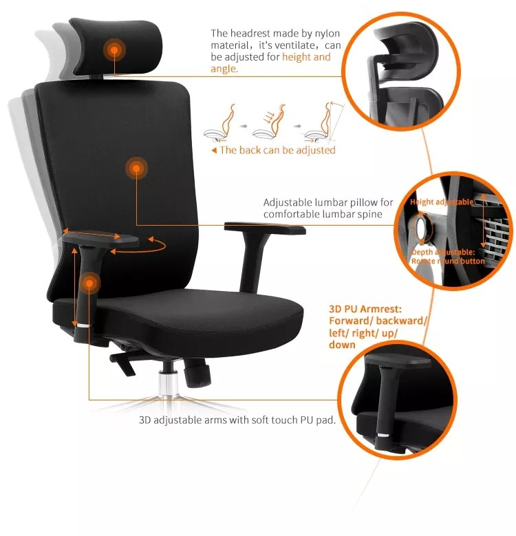huashi chair high tech lift swivel german office chair with neck support buy office chairs with neck support high tech office chair german office