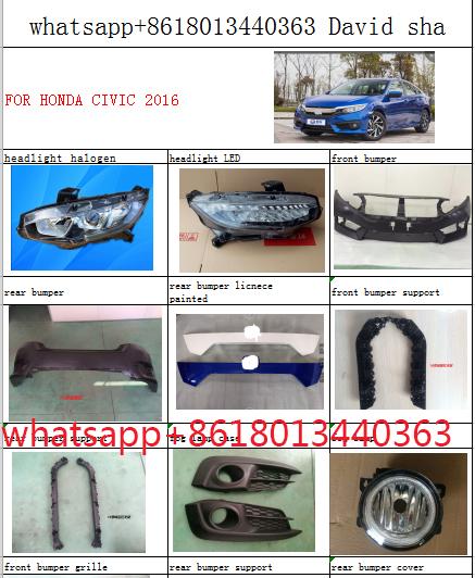 2018 Honda Civic Front Bumper : honda, civic, front, bumper, Bumper, Honda, Civic, Headlamp, Headlight, Light, Front, Parts