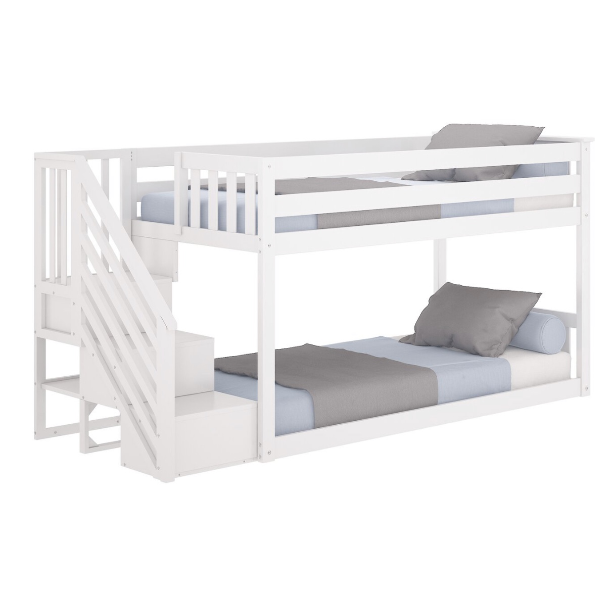 No 1539 Hot Selling Kids Bedroom Furniture Solid Pine Wood Twin Bunk Bed With Storage Stairs Buy Wooden Furniture Kids Bunk Bed Solid Pine Wood Product On Alibaba Com