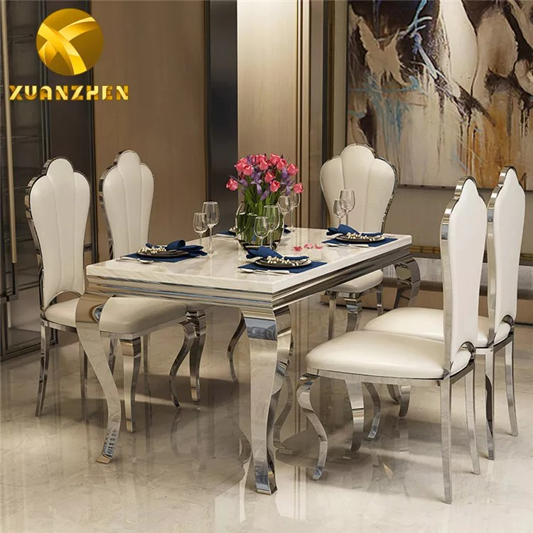 Foshan Furniture Factory Glass Table Top Dinning Table Set Dining Table With 6 Chairs Dt002 Buy Marble Dining Table Set Dining Room Set Dining Tables Stainless Steel Dining Table Product On Alibaba Com