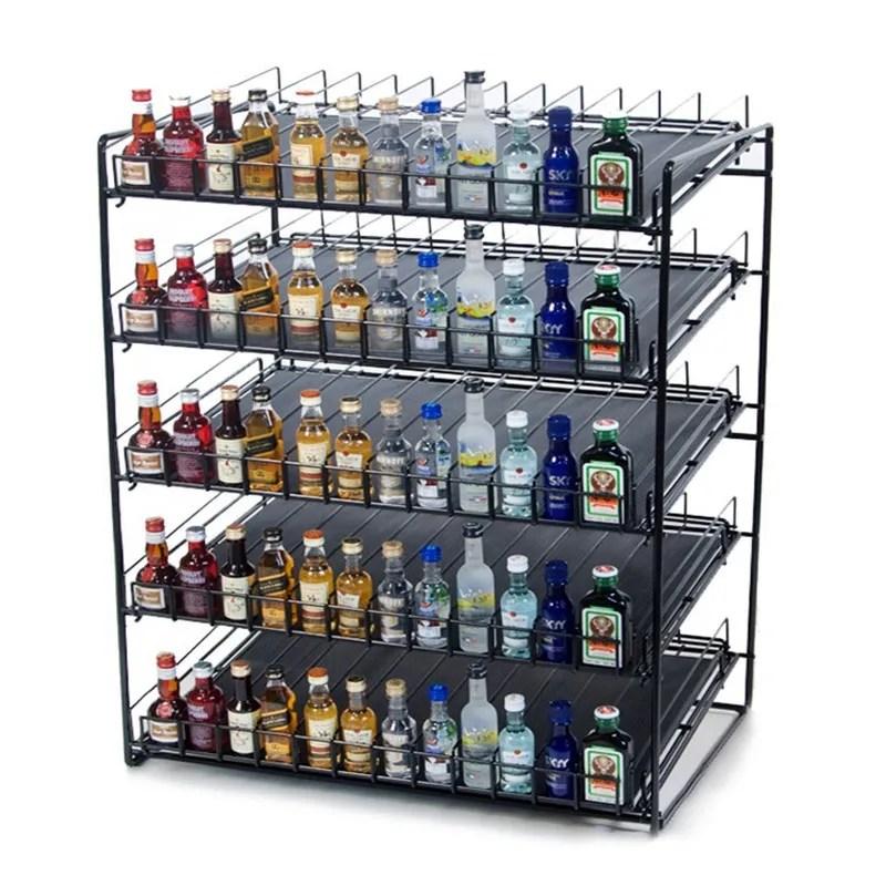 metal rack food shelf merchandiser jams bottle liquor display stand mini shot bottle rack buy metal rack food shelf merchandiser jams bottle liquor