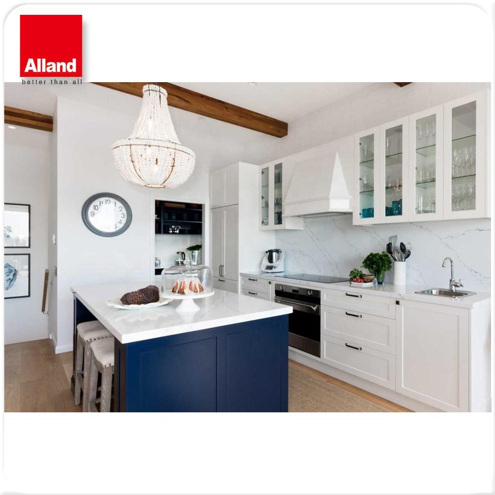 armoires de cuisine personnalises style hampon shker blanc et bleu nouveau modele buy armoires de cuisine de finition de laque