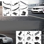 Flaps For Bmw X6 E71 Front Bumper Spoiler Skirt Elerons M Sport Performance Lip Vehicle Parts Accessories Car Wing
