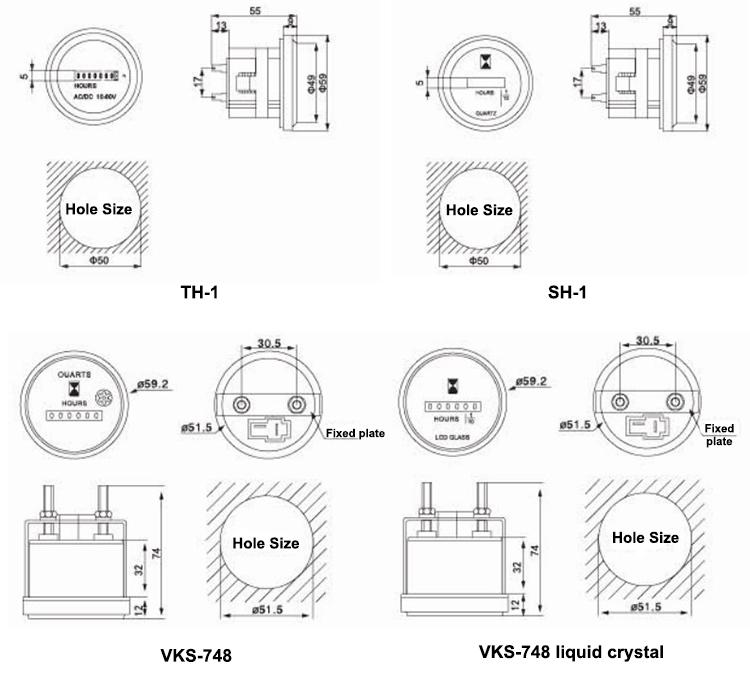 Vks-748 Ly-748 Liquid Crystal Type 6 Digital Lcd Display