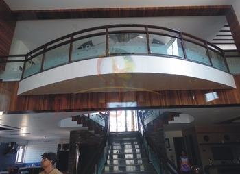Designer Staircase Railing Glass Buy Staircase Glass Railing | Staircase Handrail Glass Designs | Frosted Glass | Curved | Glass Baluster | Glass Painting | Glass Etching