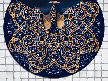 kitchen vinyl wholesale pvc 乙烯基圆地毯 0 120厘米摩洛哥圆地毯pvc 乙烯基地板厨房 客厅装饰 乙烯基地板