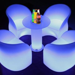 Led Table And Chairs Target Outdoor Illimunated Furniture Buy