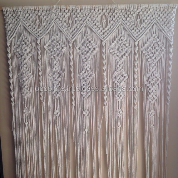 White Macrame Door Window Curtains  Buy Fancy Window
