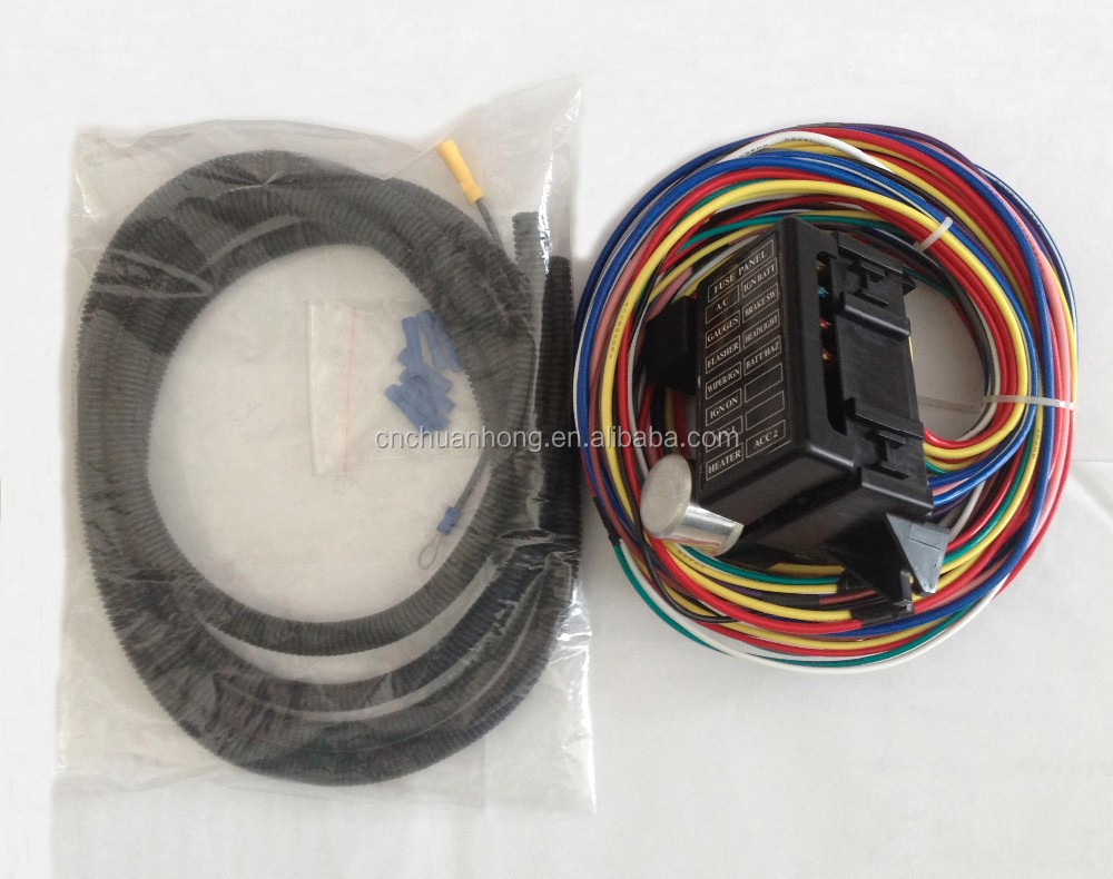 hight resolution of 12v 12 circuit universal auto complete replacement wiring harness fuse box for street hot rat rod